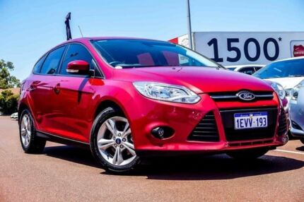 2015 Ford Focus LW MKII MY14 Trend PwrShift Red 6 Speed Sports Automatic Dual Clutch Hatchback