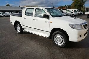 2015 Toyota Hilux KUN26R MY14 SR Double Cab White 5 Speed Automatic Utility Pearsall Wanneroo Area Preview