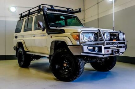 2011 Toyota Landcruiser VDJ76R MY10 GXL White 5 Speed Manual Wagon Wangara Wanneroo Area Preview