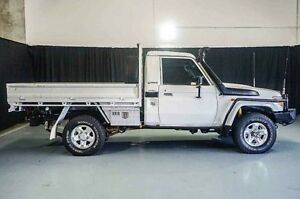 2010 Toyota Landcruiser VDJ79R MY10 GXL White 5 Speed Manual Cab Chassis Wangara Wanneroo Area Preview