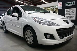 2011 Peugeot 207 A7 Series II MY10 XR White 4 Speed Sports Automatic Hatchback Maryville Newcastle Area Preview