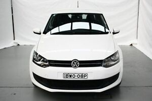 2011 Volkswagen Polo 6R MY11 77TSI DSG Comfortline White 7 Speed Sports Automatic Dual Clutch Maryville Newcastle Area Preview