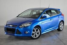 2013 Ford Focus LW MKII Sport PwrShift Blue 6 Speed Sports Automatic Dual Clutch Hatchback Robina Gold Coast South Preview