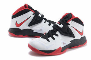 Lebrons zoom soldier red/black university