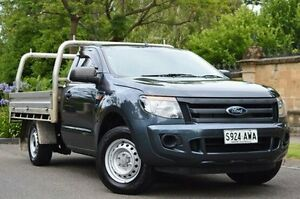 2013 Ford Ranger PX XL 4x2 Grey 6 Speed Manual Cab Chassis Thorngate Prospect Area Preview