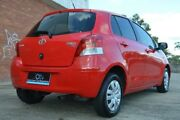 2010 Toyota Yaris NCP90R MY11 YR Red 4 Speed Automatic Hatchback Ashmore Gold Coast City Preview