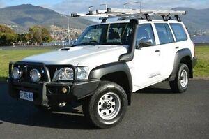 2012 Nissan Patrol Y61 GU 8 DX White 5 Speed Manual Wagon Derwent Park Glenorchy Area Preview