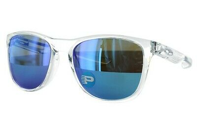 Oakley Trillbe X POLARIZED Sunglasses OO9340-05 Clear Frame W/ Sapphire Iridium (Oakley Clear Frame Sunglasses)