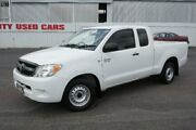 2008 Toyota Hilux GGN15R MY08 SR Xtra Cab 4x2 White 5 Speed Automatic Utility Woodridge Logan Area Preview