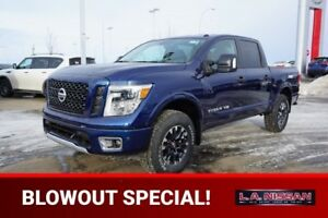 2018 Nissan Titan 4X4 PRO-4X CREW CAB LEATHER HEATED SEATS, HEAT