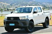 2016 Toyota Hilux GUN125R Workmate Double Cab White 6 Speed Sports Automatic Utility Derwent Park Glenorchy Area Preview