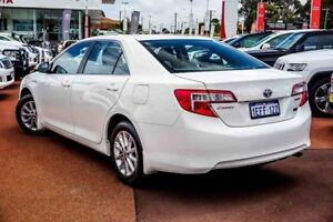 2013 Toyota Camry AVV50R Hybrid H White 1 Speed Constant Variable Sedan Hybrid