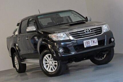 2014 Toyota Hilux KUN26R MY14 SR5 Double Cab Black 5 Speed Automatic Utility