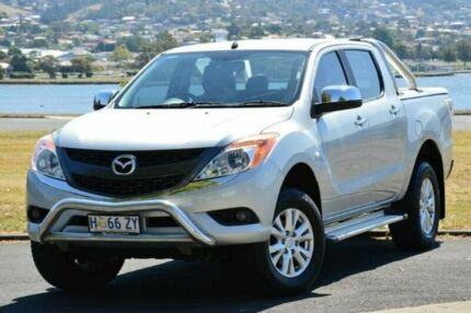 2013 Mazda BT-50 UP0YF1 XTR Silver 6 Speed Sports Automatic Utility Derwent Park Glenorchy Area Preview
