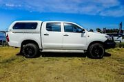 2014 Toyota Hilux KUN26R MY14 SR Double Cab White 5 Speed Manual Utility Wangara Wanneroo Area Preview