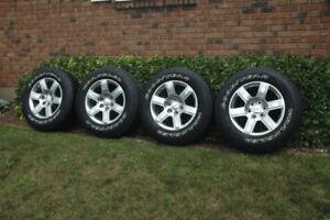 "Four Gm 18"" 6 bolt rims and tires"