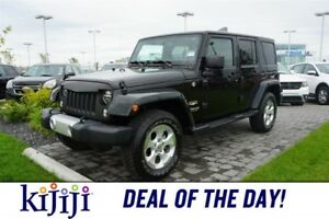 2014 Jeep Wrangler Unlimited 4WD  SAHARA Accident Free,  Bluetoo