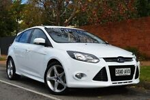2013 Ford Focus LW MKII Titanium PwrShift White 6 Speed Sports Automatic Dual Clutch Hatchback Thorngate Prospect Area Preview