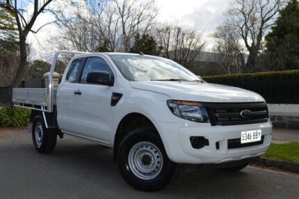 2014 Ford Ranger PX XL Super Cab 4x2 Hi-Rider Cool White 6 Speed Sports Automatic Cab Chassis