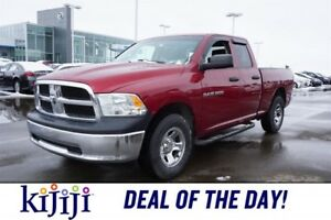 2012 Ram 1500 4X4 QUADCAB SXT Accident Free,  Leather,  Heated S