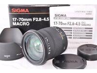 BRAND NEW BOXED SIGMA 17-70MM F2.8-4.5 MACRO LENS