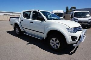 2013 Mitsubishi Triton MN MY13 GLX Double Cab White 5 Speed Manual Utility Pearsall Wanneroo Area Preview