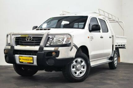 2012 Toyota Hilux KUN26R MY12 SR Double Cab White 5 Speed Manual Utility Edgewater Joondalup Area Preview