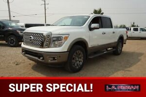 2018 Nissan Titan 4X4 PLATINUM CREW CA PREMIUM TWO TONE LEATHER