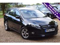 2013 63 FORD FOCUS 1.6 ZETEC TDCI 5D 113BHP DIESEL, FSH WITH A NEW SERVICE MOT