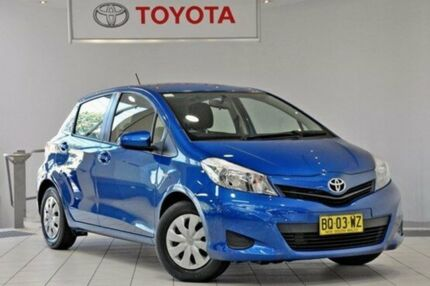 2012 Toyota Yaris NCP130R YR Caribbean Blue 4 Speed Automatic Hatchback Waterloo Inner Sydney Preview