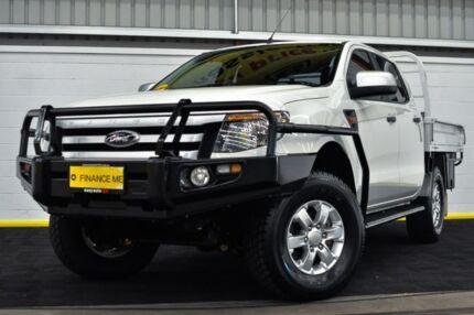 2014 Ford Ranger PX XLS Double Cab White 6 Speed Manual Utility Canning Vale Canning Area Preview