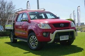 2009 TRD Hilux GGN25R MY09 4000SL Red 5 Speed Automatic Utility Wangara Wanneroo Area Preview