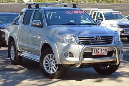 2013 Toyota Hilux GGN25R MY12 SR5 Double Cab Silver 5 Speed Automatic Utility