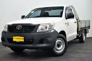 2014 Toyota Hilux TGN16R MY14 Workmate 4x2 White 4 Speed Automatic Cab Chassis Edgewater Joondalup Area Preview