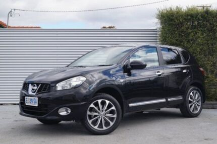 2010 Nissan Dualis J10 Series II MY2010 Ti Hatch Black 6 Speed Manual Hatchback South Launceston Launceston Area Preview