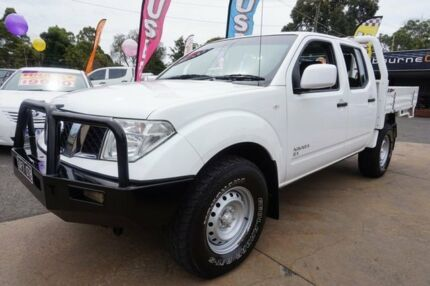 2012 Nissan Navara D40 S7 MY12 RX Polar White 6 Speed Manual Cab Chassis
