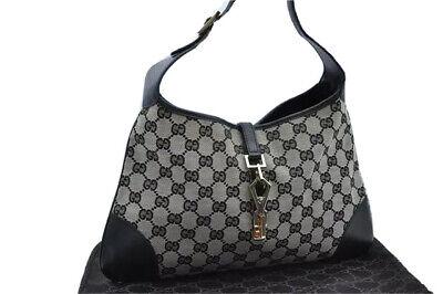Gucci Handbag Purse Guccissima Jackie Jacky Shoulder Bag Leather GG Vintage RARE