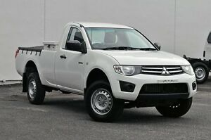 2012 Mitsubishi Triton MN MY12 GLX White 4 Speed Automatic Cab Chassis Tweed Heads South Tweed Heads Area Preview
