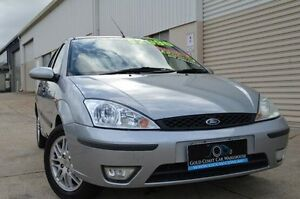 2002 Ford Focus LR MY2003 LX Silver 5 Speed Manual Hatchback Ashmore Gold Coast City Preview
