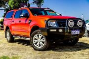 2012 Ford Ranger PX Wildtrak Double Cab Orange 6 Speed Sports Automatic Utility Wangara Wanneroo Area Preview