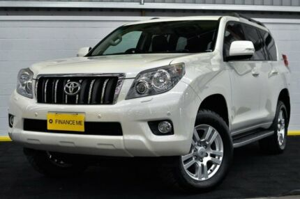 2010 Toyota Landcruiser Prado KDJ150R VX White 5 Speed Sports Automatic Wagon Canning Vale Canning Area Preview