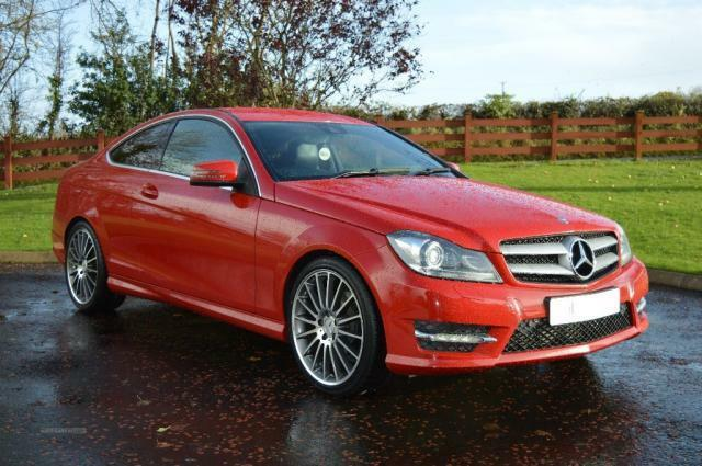 mercedes benz c class c220 cdi amg plus coupe blue ef 7speed red 2012 in dungiven county. Black Bedroom Furniture Sets. Home Design Ideas