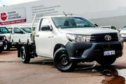 2017 Toyota Hilux TGN121R Workmate 4x2 Glacier White 5 Speed Manual Cab Chassis Balcatta Stirling Area Preview