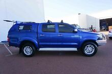 2013 Toyota Hilux KUN26R MY12 SR5 Double Cab Blue 5 Speed Manual Utility Wangara Wanneroo Area Preview