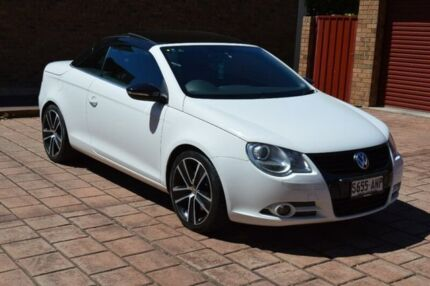 2010 Volkswagen EOS 1F MY09 147TSI DSG White Night White 6 Speed Sports Automatic Dual Clutch Stepney Norwood Area Preview