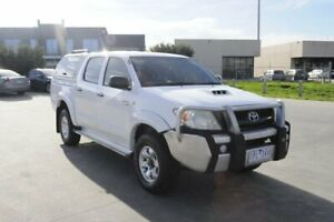 2008 Toyota Hilux KUN26R 08 Upgrade SR (4x4) White 5 Speed Manual Dual Cab Chassis Hoppers Crossing Wyndham Area Preview