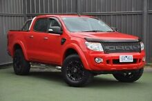 2014 Ford Ranger PX XLT Double Cab Red 6 Speed Sports Automatic Utility Wantirna South Knox Area Preview