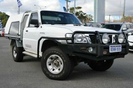 2009 Nissan Patrol GU 6 MY08 DX White 5 Speed Manual Cab Chassis Myaree Melville Area Preview
