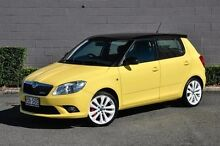 2012 Skoda Fabia 5JF MY13 RS DSG 132TSI Yellow 7 Speed Sports Automatic Dual Clutch Hatchback Main Beach Gold Coast City Preview