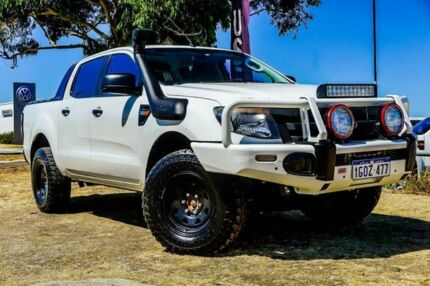 2014 Ford Ranger PX XLT Double Cab White 6 Speed Manual Utility Wangara Wanneroo Area Preview
